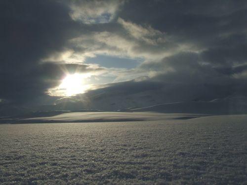 norway snow sun