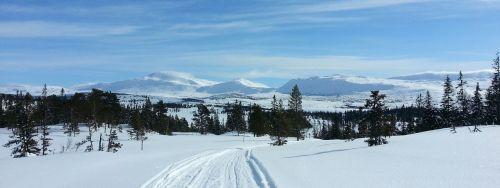 norway mountain sky