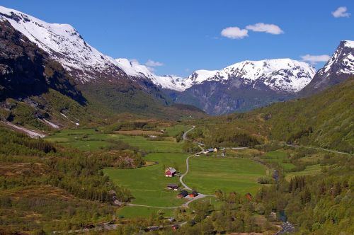 norway fjordlandschaft mountains