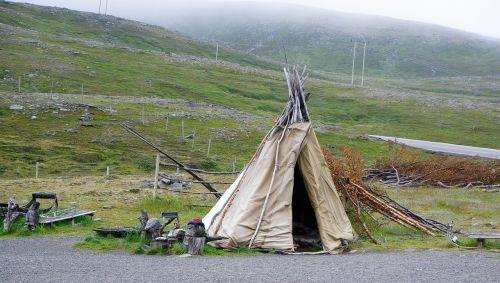 norway lapland tent
