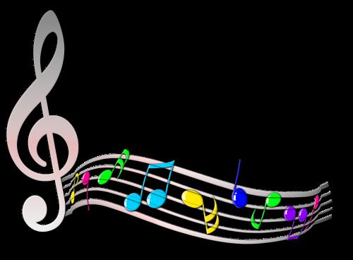 note scores treble clef