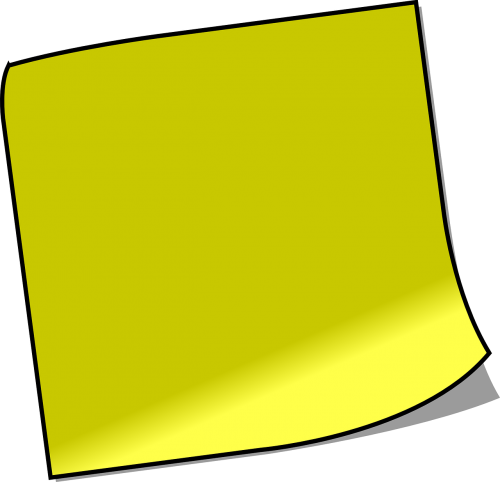 note sticky note memo
