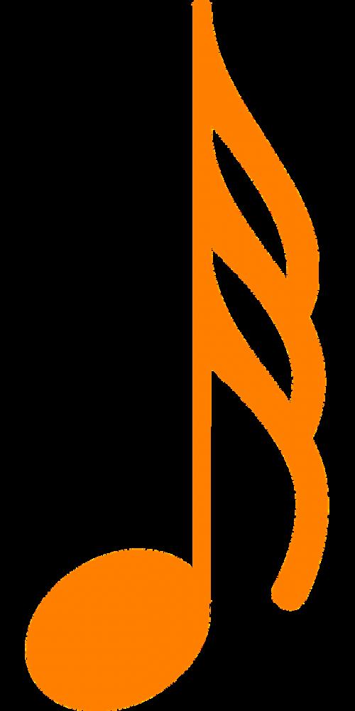 note music orange