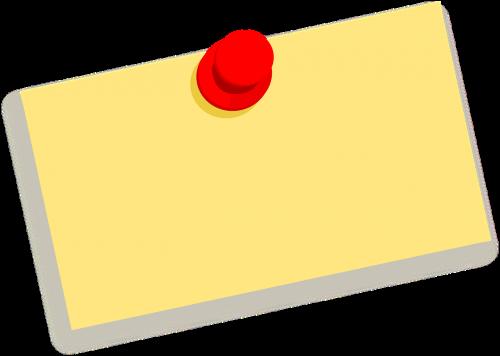note thumbtack message