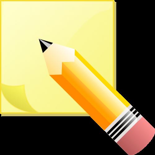 note paper pencil