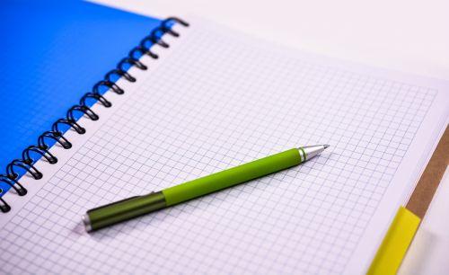 notebook pen paper