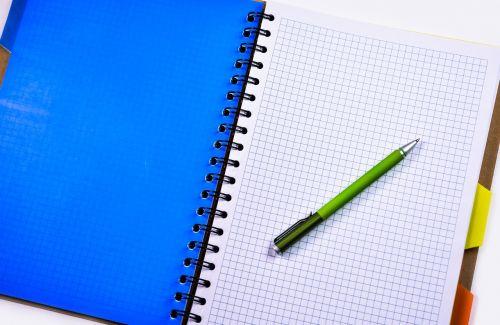 notebook pen pencil