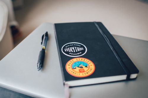 notebook pen writing