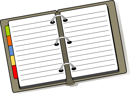 notebook diary planner