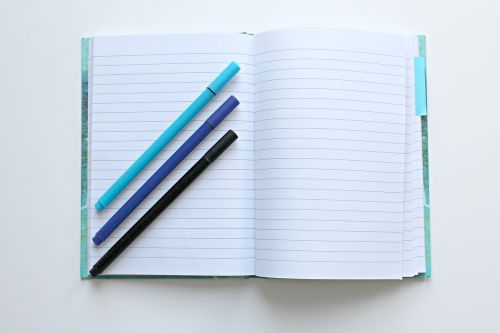 notebook pens notes