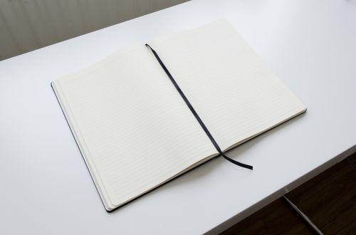 notebook open book open