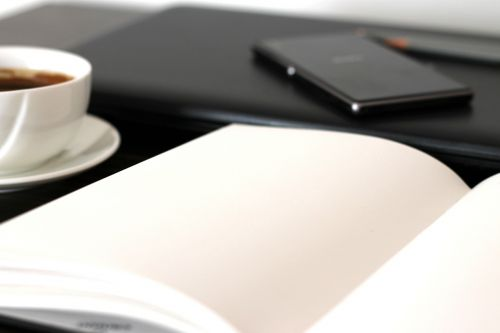 notebook note coffee