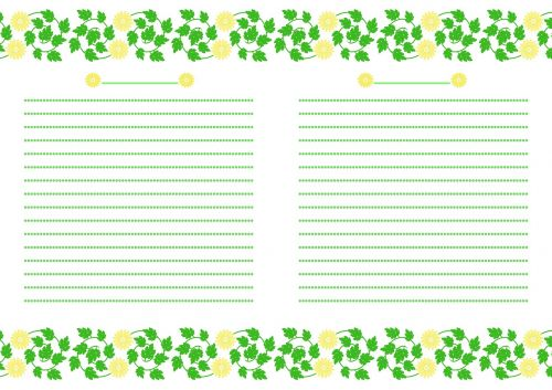 notebook chrysanthemum flowers yellow