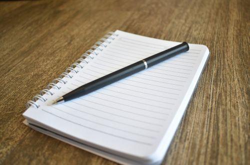 notebook book pen