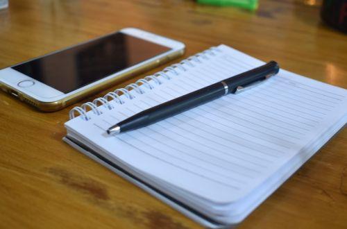 notebook pen iphone
