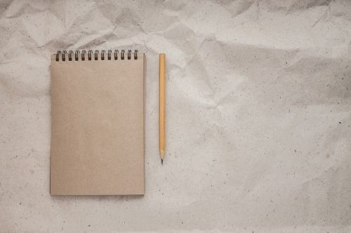 notebook pencil the note