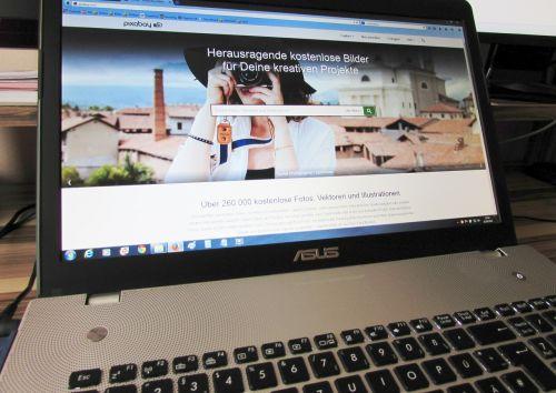 notebook web page laptop