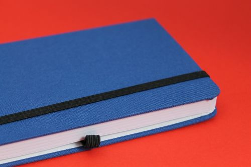 notebook blue red