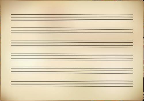 notenblatt paper music