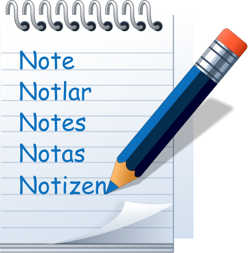 notepad symbol write down