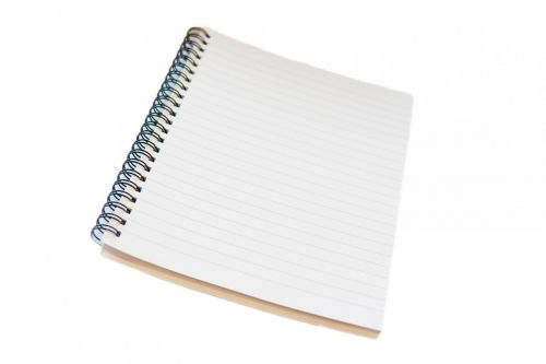 notepad notebook spiral