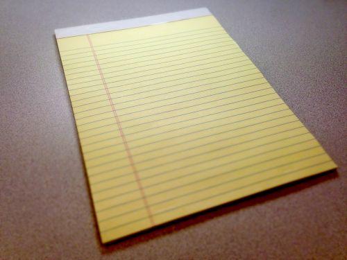notepad pad paper