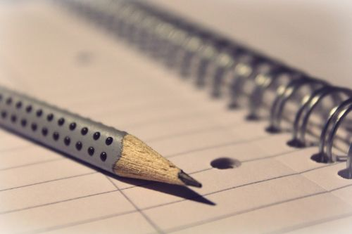 notepad pencil pen