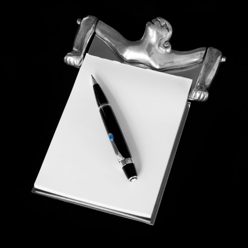 notepad and pencil carrol boyes pewter notepad