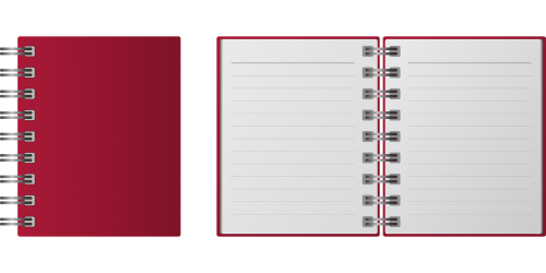notes record mini notebook