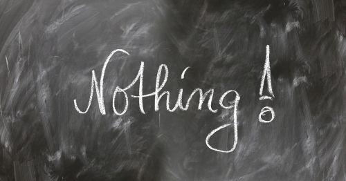 nothing board blackboard