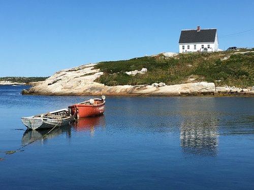 nova scotia  boats  peggy's cove