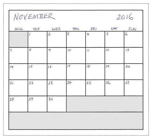 November 2016 Planner