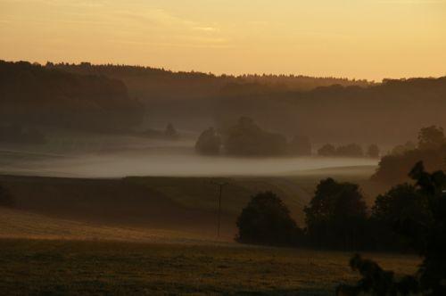 november sunrise fog