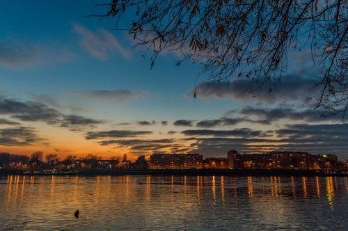 novi sad serbia sunset