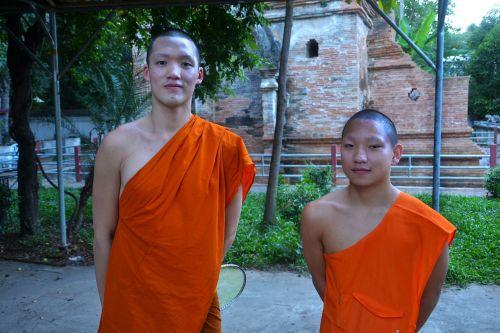 novice monks monks temple