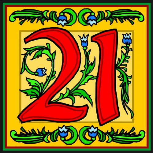 No. 21 Floral Yellow