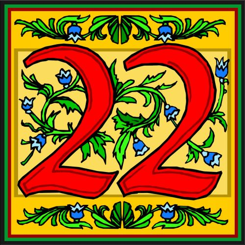 No. 22 Floral Yellow
