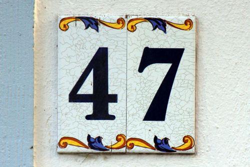number digits 47