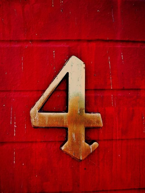 number four red