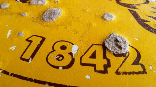number table top old