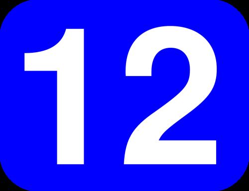 number 12 twelve