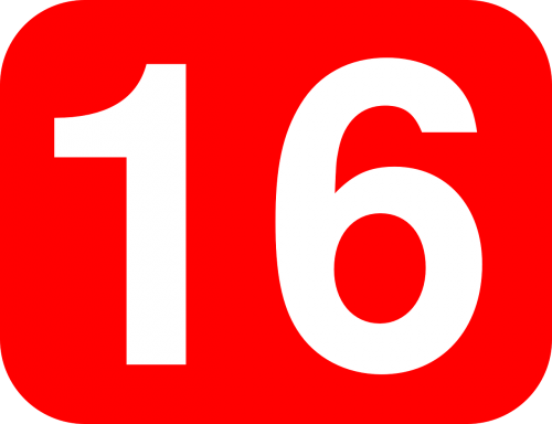 number sixteen 16