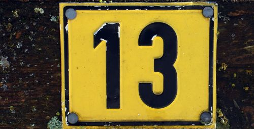 number symbol thirteen