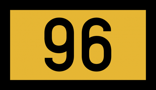 number road sign germany