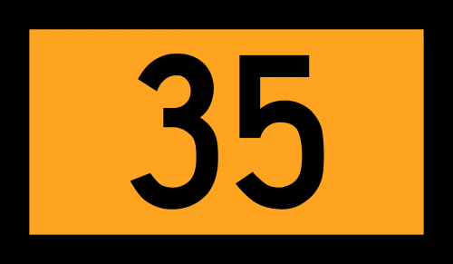 numberr road sign germany