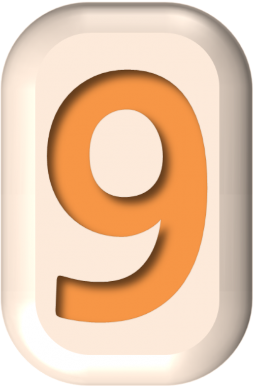 numbers button shape