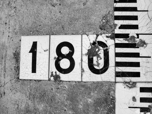 numbers 180 black and white