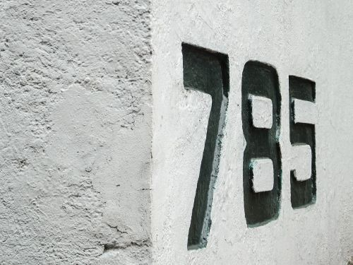 numbers street number address