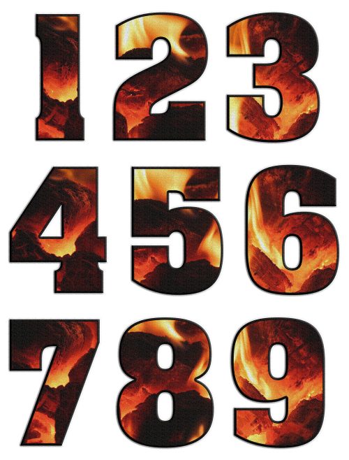 numbers digits characters