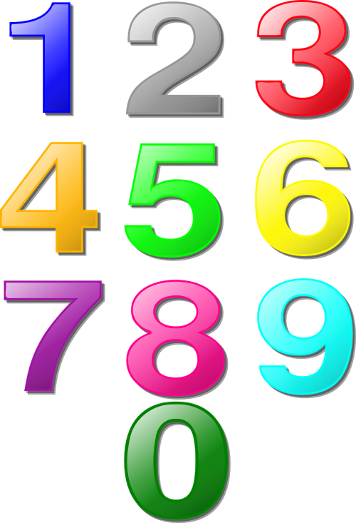 numbers counting maths